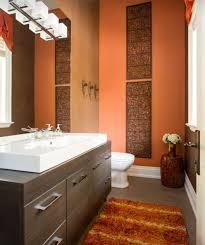 burnt orange bathroom rugs burnt orange and brown make for a warm bathroom feel