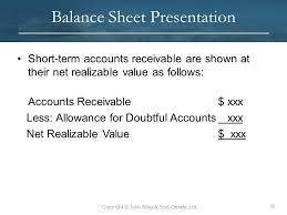 allowance for uncollectible accounts balance sheet 7 cash and receivables after studying this chapter you should be