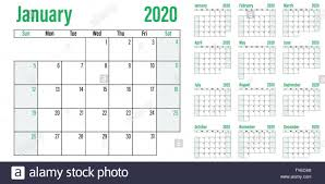 2020 monthly planner template calendar planner 2020 template vector illustration all 12