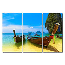 Small Picture Amazoncom Canvas Print Wall Art Painting For Home Decor Beach