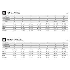 Shimano Size Chart