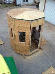 How To Make A Deer Hunting Stand On Trailer With Windows  YouTubeHomemade Deer Blind Windows