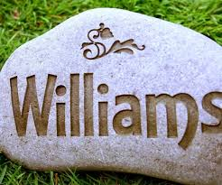 image of personalized decorative garden stones