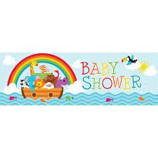 noahs ark baby shower ideas for baby shower party. Noahs Ark Giant 20 X 60 Inch Baby Shower Party Banner/Case Of 6 Ideas For