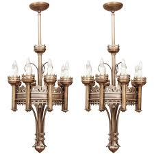 pair of gothic style chandeliers
