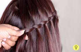 Hairstyle Waterfall how to make a waterfall braid a step by step tutorial 1522 by stevesalt.us