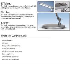 Esi Led Lighting Esi Single Arm Led Desk Lamp Vivid