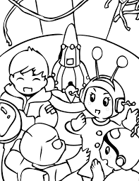 Small Picture Outer Space Coloring Page Handipoints