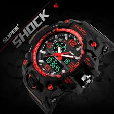 New SKMEI Digital Watch S SHOCK <b>Men Watch 50m Waterproof</b> ...