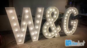 Bruiloft Letters Met Lampjes