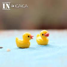 Gardening Decorative Accessories 100pcs Zakka mini cute yellow ducks beach landscape micro fairy 99