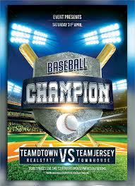 Baseball Brochure Template Baseball Flyer 25 Download In Vector Eps Psd
