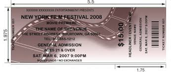 Event Ticket Printing Software Customized Film Movie Tickets Printed And Shipped Today By