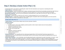my personal development plansample career action plan strategic discussion document for mu mba students