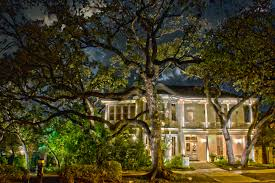 circle c is home to many beautiful large trees texas outdoor lighting