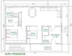 30x40 2 bedroom house plans plans for east facing plot vastu