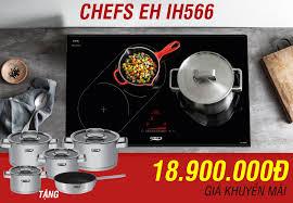 Bếp Chefs 3 vùng nấu giá khuyến mãi cực sốc chỉ 10 triệu đồng - Showroom bếp  từ Faster .net