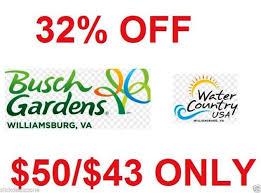 busch gardens deals. Photo 1 Of 8 32% OFF BUSCH GARDENS WILLIAMSBURG VA TICKETS COUPON SAVINGS DISCOUNT CODE PROMO $50/$43 Busch Gardens Deals
