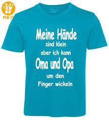Kinder Sprüche T Shirt Oma Und Opa Türkis Größe 98 T Shirts Mit