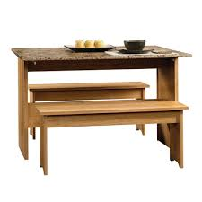 Sauder Kitchen Furniture Sauder Beginnings Highland Oak 47in Trestle Table 414672