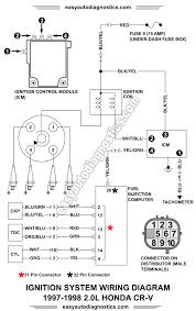 1997 1998 2 0l honda cr v ignition system wiring diagram