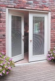 single patio doors with built in blinds andersen