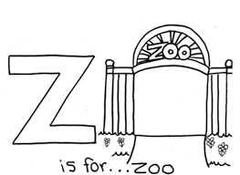 Small Picture Zoo Alphabet Coloring Pages Alphabet Coloring pages of