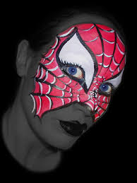 spider woman face paint by dolls edd