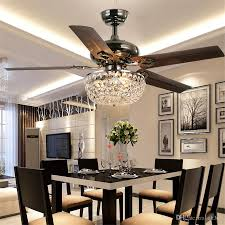 2019 Crystal Ceiling Fan Wood Leaf Antique Fan Light Fan Chandelier With Remote Control Dining Room Living Room Pendant Lamp From Ok360 559 6