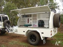 custom built camper trailer camp kitchen ideal for heavy duty off road