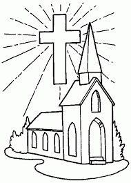 Small Picture Coloring Page Of A Church Children S Coloring Pages For Sunday