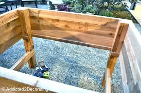 diy raised planter box raised planter box plans to build an elevated garden build raised brick diy raised planter box