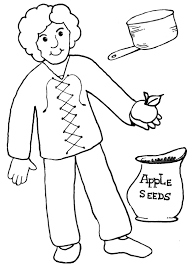 Small Picture johnny appleseed color pages printable pages Homeschool 4 Free
