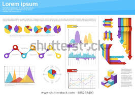 Dare Stock Chart Graph Set Finance Diagram Infographic Icon Stock Vector