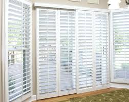 window treatments houston sliding glass door with white shutters motorized window shades houston