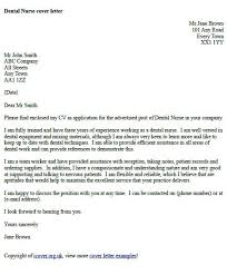 Dental Nurse Cover Letter Example Icover Org Uk