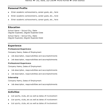 Simple Resume Layout Magnificent Simple Easy Resume Templates Resume