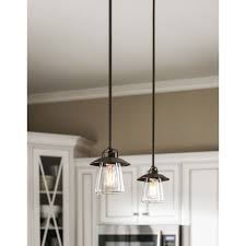 allen roth bristow 687 in w mission bronze mini pendant light with clear glass shade 34551 awesome designing clear glass mini pendant lights