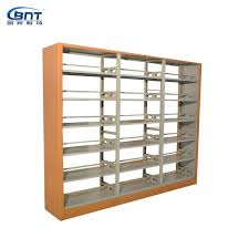 Wooden Book Stand For Display Library Steel and Wooden Book Shelf School Steel and Wooden Book 72
