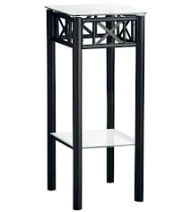 metal plant stand with glass top image
