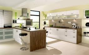 modern kitchen built in table