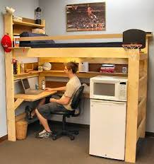 ... Nifty Loft Bed With Desk Underneath Plans M75 In Home Interior Ideas  with Loft Bed With ...