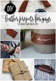 diy leather projects for guys