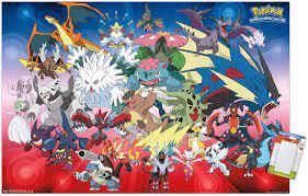 Amazon.com: Trends International Pokémon - Mega Evolutions Wall Poster,  22.375