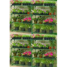 2 x gardman 08751 greenhouse storage staging and shelving double pack shelves