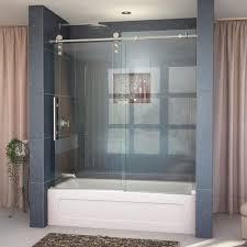 frameless sliding tub door in