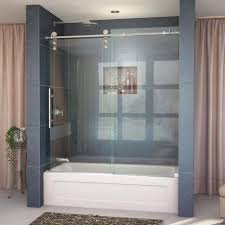 frameless sliding tub door in