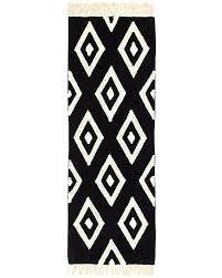gorgeous phenomenal washable runner rugs lorena cs machine washable runner rug black and white diamonds cotton