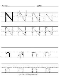 Letter N Worksheets L Tracing Preschool Free Traceable Alphabet ...