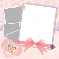 Cute Template Cute Template For Babys Arrival Announcement Card Or Photo Frame